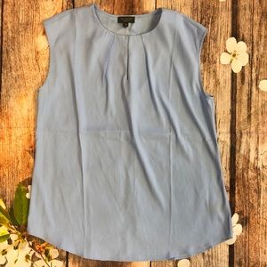 Limited Soft Blue Sleeveless Blouse